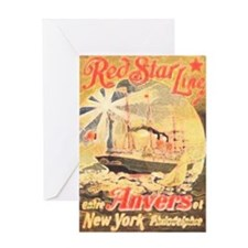 Red Star Line Greeting Card