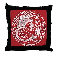 Red Dragon Throw Pillow