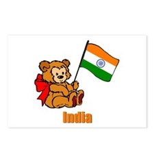India Teddy Bear Postcards (Package of 8)