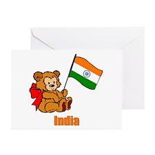India Teddy Bear Greeting Cards (Pk of 10)