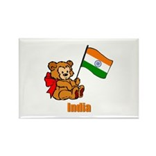 India Teddy Bear Rectangle Magnet