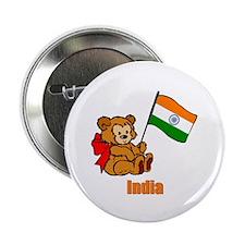 "India Teddy Bear 2.25"" Button (100 pack)"