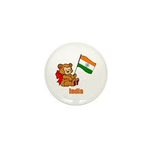 India Teddy Bear Mini Button (100 pack)