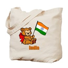 India Teddy Bear Tote Bag