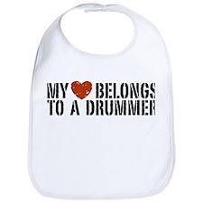 My Heart Belongs to a Drummer Bib