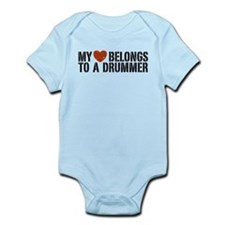 My Heart Belongs to a Drummer Infant Bodysuit