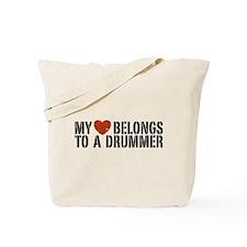 My Heart Belongs to a Drummer Tote Bag