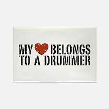 My Heart Belongs to a Drummer Rectangle Magnet