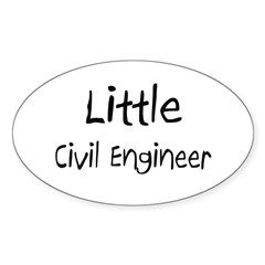 Little Civil Engineer Oval Decal