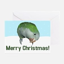 Quaker Parrot Merry Christmas Cards (Pk of 10)
