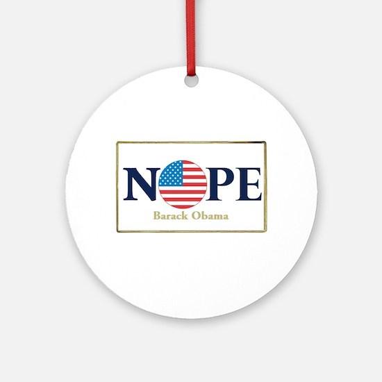 Obama NOPE Ornament (Round)