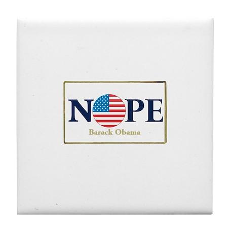 Obama NOPE Tile Coaster