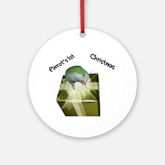 Quaker Parrot's 1st Christmas Ornament