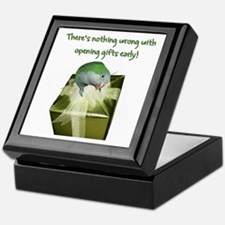 Quaker Parrot Opening Gifts Early Keepsake Box
