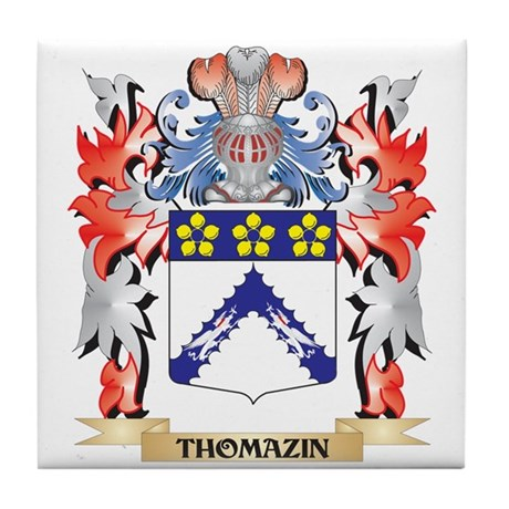 Thomazin Coat of Arms - Family Crest Tile Coaster