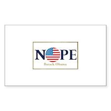 Obama NOPE Rectangle Sticker 50 pk)