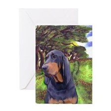 coon hound sympathy Greeting Card