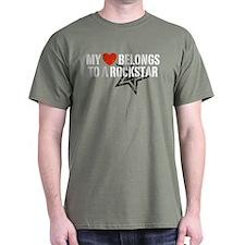 My Heart Belongs to a Rockstar T-Shirt