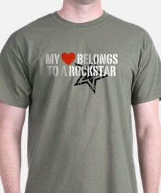 My Heart Belongs to a Rockstar T-Shirt