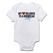 My Heart Belongs to a Rockstar Infant Bodysuit