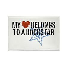 My Heart Belongs to a Rockstar Rectangle Magnet