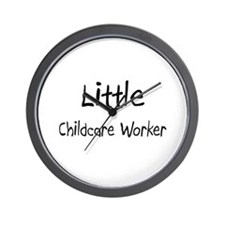 Little Childcare Worker Wall Clock