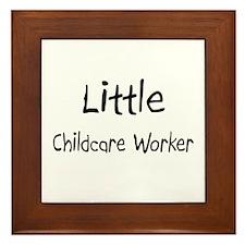 Little Childcare Worker Framed Tile