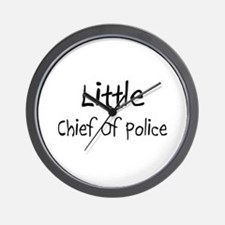 Little Chief Of Police Wall Clock