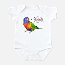 Rainbow Lorikeet - Hello Infant Bodysuit