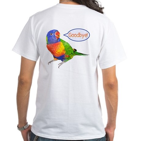 Parrot Hello/Goodbye White T-Shirt
