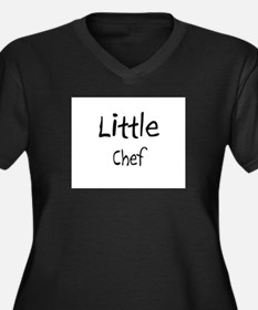 Little Chef Women's Plus Size V-Neck Dark T-Shirt