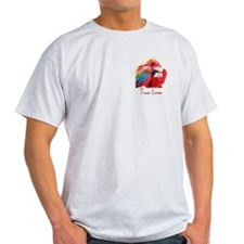 Preening Macaws Ash Grey T-Shirt