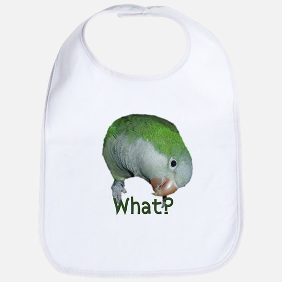 "Quaker Parrot ""What?"" Bib"