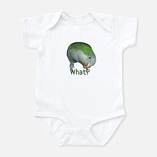 """Quaker Parrot """"What?"""" Infant Bodysuit"""