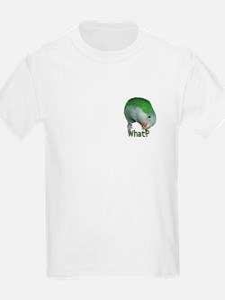 "Quaker Parrot ""What?"" Kids T-Shirt"