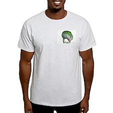 """Quaker Parrot """"What?"""" Ash Grey T-Shirt"""