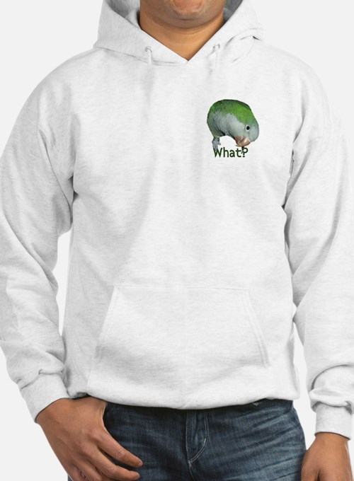 """Quaker Parrot """"What?"""" Hoodie"""