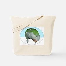 Snowy Quaker Parrot Tote Bag