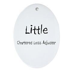 Little Chartered Loss Adjuster Oval Ornament