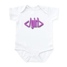 Girl HTML Baby Infant Bodysuit