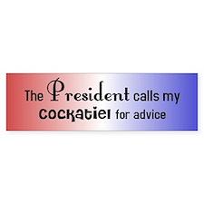 Cockatiel Presidential Advisor Bumper Bumper Sticker