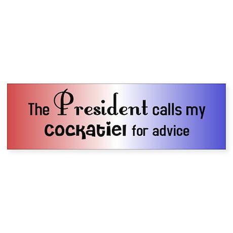 Cockatiel Presidential Advisor Bumper Sticker