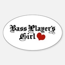 Bass Player's Girl Oval Decal