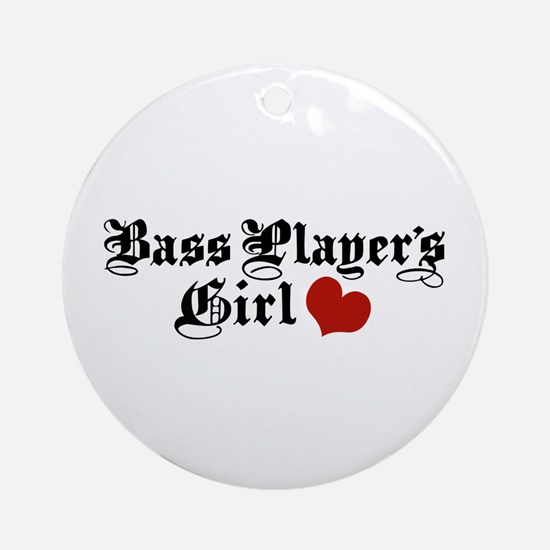 Bass Player's Girl Ornament (Round)