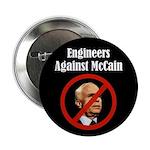 Engineers Against McCain political button