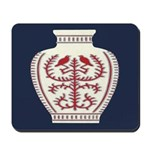 Asian Vase (Blue) Mousepad