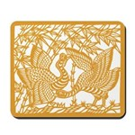 Wild Birds and Bamboo Mousepad