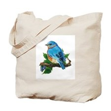 "Tote Bag - ""Berry Bluebird"""