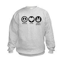 Peace Love Rock and Roll Sweatshirt