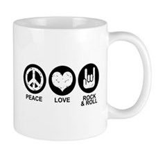 Peace Love Rock and Roll Mug
